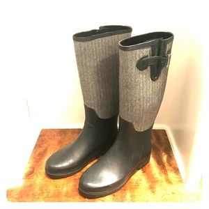 Banana Republic Herringbone Rain Boots
